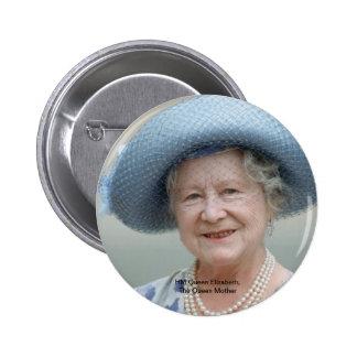 HM reina Elizabeth, la reina madre 1988 Pin Redondo De 2 Pulgadas