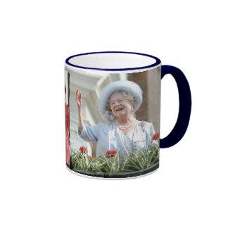 HM reina Elizabeth, la reina madre 1990 Taza De Dos Colores