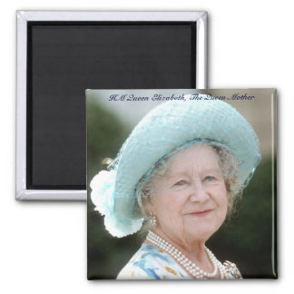 HM reina Elizabeth, la reina madre Berlín 1987 Imán Cuadrado