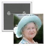 HM reina Elizabeth, la reina madre Berlín 1987 Pins