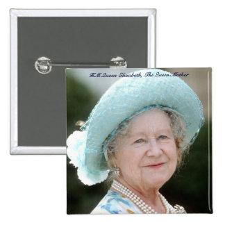 HM reina Elizabeth, la reina madre Berlín 1987 Pin Cuadrado