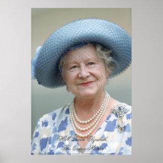 HM reina Elizabeth, la reina madre Poster