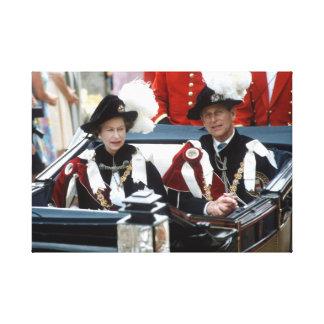 HM reina Elizabeth y príncipe Philip Impresión En Lienzo Estirada