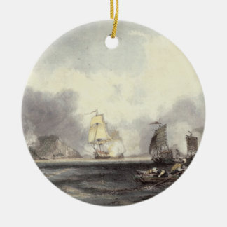 HM Ships Imogene and Andromache passing the Batter Ceramic Ornament