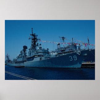 "HMAS Hobart"" Australian Navy destroyer, San Diego, Poster"