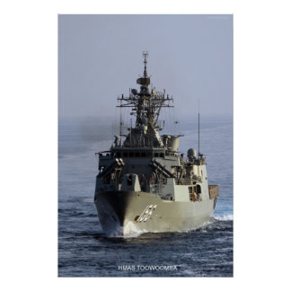 HMAS Toowoomba Poster