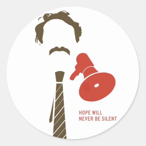 HMDayFaceTShirt Classic Round Sticker