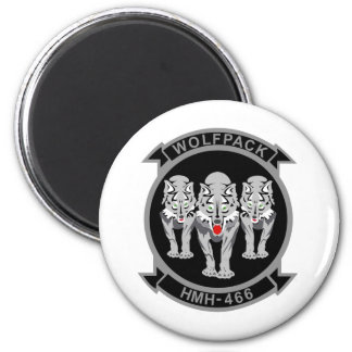 HMH-466 Wolfpack 2 Inch Round Magnet