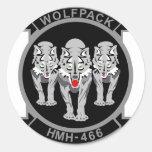 HMH-466 Wolfpack Classic Round Sticker