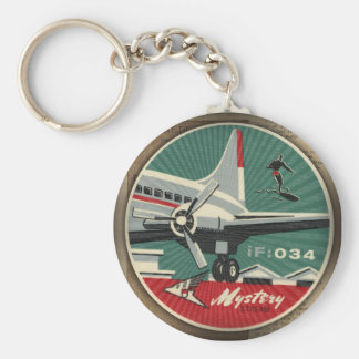 HMK Mystery Stream Airlines 034 Basic Round Button Keychain