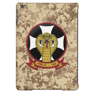 "HMLA-169 ""Vipers"" Marine Camo Cover For iPad Air"
