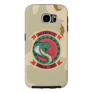 """HMLA-367 """"Scarface""""  Desert Camo Samsung Galaxy S6 Case"""