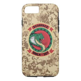 """HMLA-367 """"Scarface"""" Marine Camo iPhone 8/7 Case"""