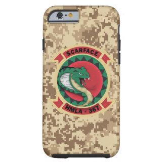 """HMLA-367 """"Scarface"""" Marine Camo Tough iPhone 6 Case"""