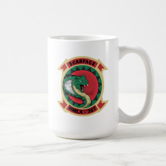 "HMLA-367 ""Scarface"" Classic White Coffee Mug"