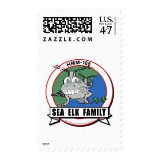 HMM-166  'Sea Elk Family' design Postage