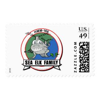 HMM-166  'Sea Elk Family' design Postage Stamp
