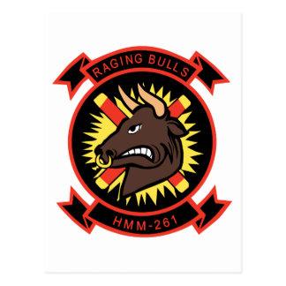 HMM-261 Raging Bulls Postcard