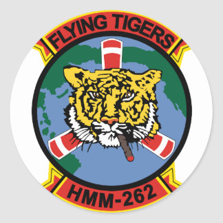 HMM-262 Flying Tigers Classic Round Sticker