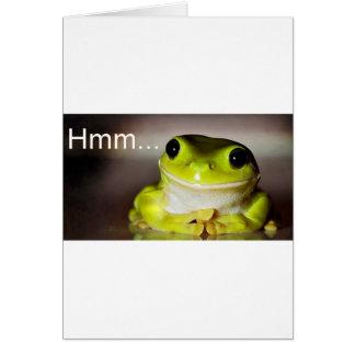 Hmm Frog Card