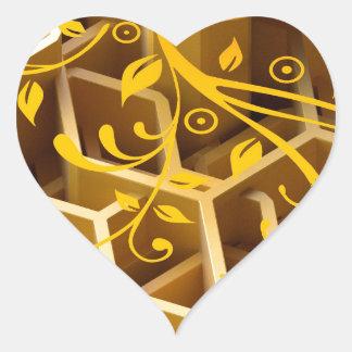 hmm… miel pegatina en forma de corazón