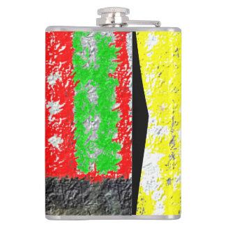 Hmm strange art hip flask