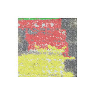 Hmm strange art stone magnet