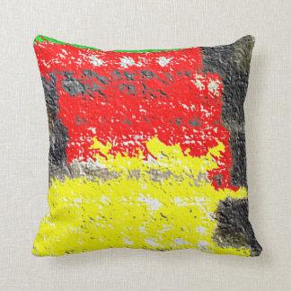 Hmm strange art throw pillow