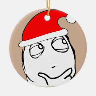 hmm xmas meme ceramic ornament