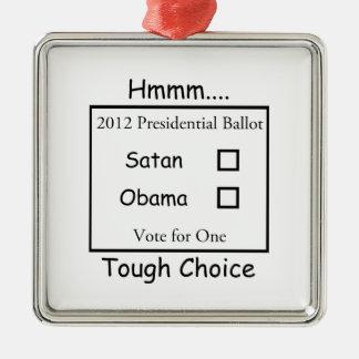 Hmmm decisión valiente Satan contra Obama 2012 Ornatos