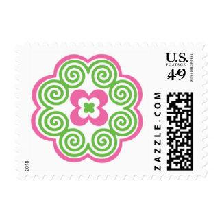 Hmong Flower Paj Ntaub Postage