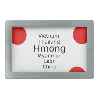 Hmong Language Design (Includes Countries) Rectangular Belt Buckle