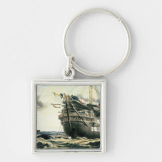 HMS Agamemnon laying the original Atlantic cable, Key Chain