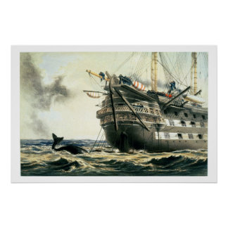 HMS Agamemnon laying the original Atlantic cable, Poster