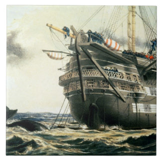 HMS Agamemnon laying the original Atlantic cable, Tile