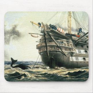 HMS Agamemnon que pone el cable atlántico original Tapete De Ratones