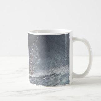 HMS Beagle in a storm off Cape Horn Coffee Mug