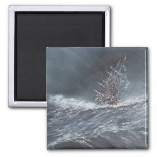 HMS Beagle in a storm off Cape Horn Magnet