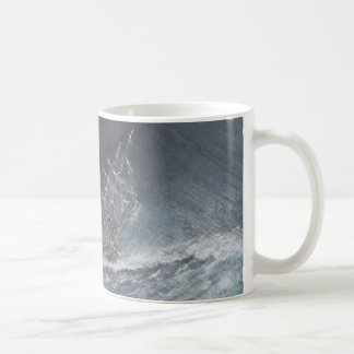 HMS Beagle in a storm off Cape Horn Classic White Coffee Mug