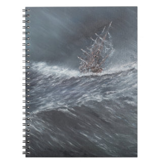 HMS Beagle in a storm off Cape Horn Notebook
