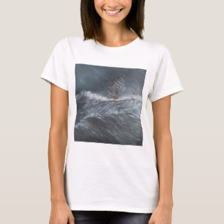 HMS Beagle in a storm off Cape Horn T-Shirt
