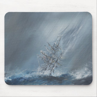 HMS Beagle in Storm off Cape Horn 24th December Mouse Pad