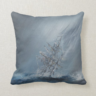 HMS Beagle in Storm off Cape Horn 24th December Throw Pillow