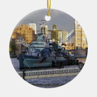 HMS Belfast. Ceramic Ornament