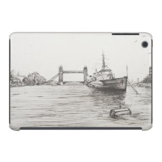 HMS Belfast en el río Támesis London.2006 Funda Para iPad Mini Retina
