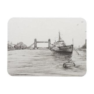 HMS Belfast on the river Thames London.2006 Magnet