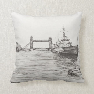 HMS Belfast on the river Thames London.2006 Throw Pillow