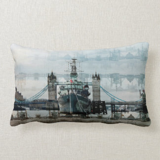 HMS Belfast On The Thames, London England Lumbar Pillow