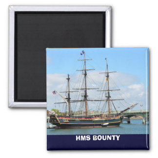 HMS BOUNTY 2 INCH SQUARE MAGNET