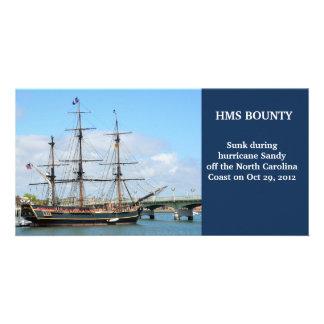 HMS Bounty replica photo card